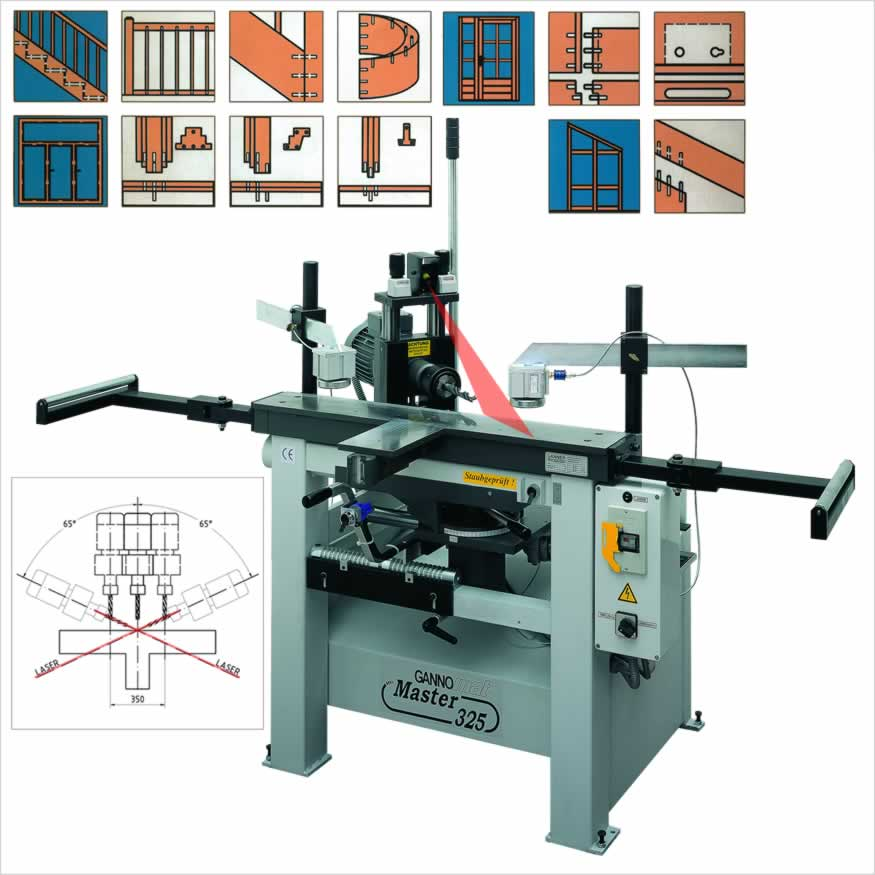 Framedrilling- and Staircasedrilling- and Mortisingmachine - GANNOMAT Master 325