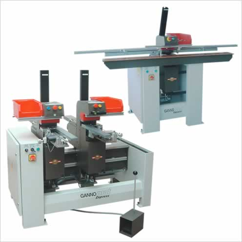 Hardware drill and insertion machine with magazine feeding for Read To Assemble RTA fittings as well as for Knock Down KD connecting fittings - GANNOMAT Express RTA